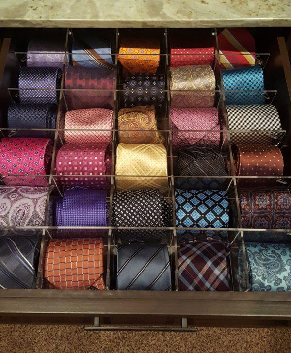 Cubby Grid tie drawer organizer