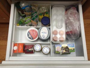 acrylic refrigerator drawer organizer