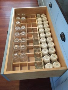 glassware drawer insert side view