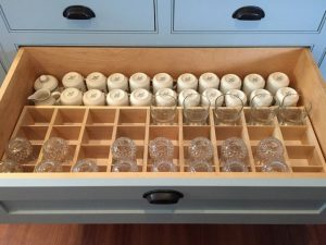glassware drawer insert