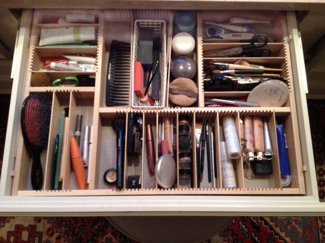 custom makeup drawer insert